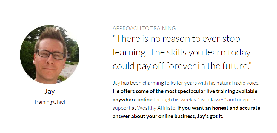 Jay, Wealthy Affiliate Training Chief