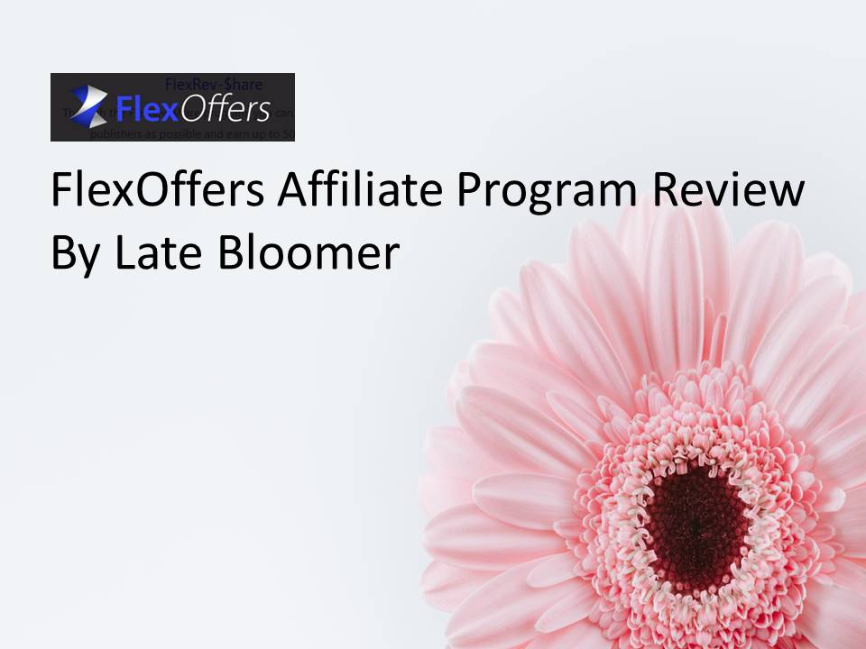 FlexOffers Affiliate Program Reviews – by Late Bloomer
