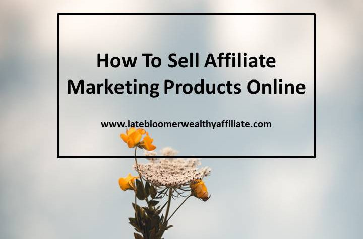 How To Sell Affiliate Marketing Products Online