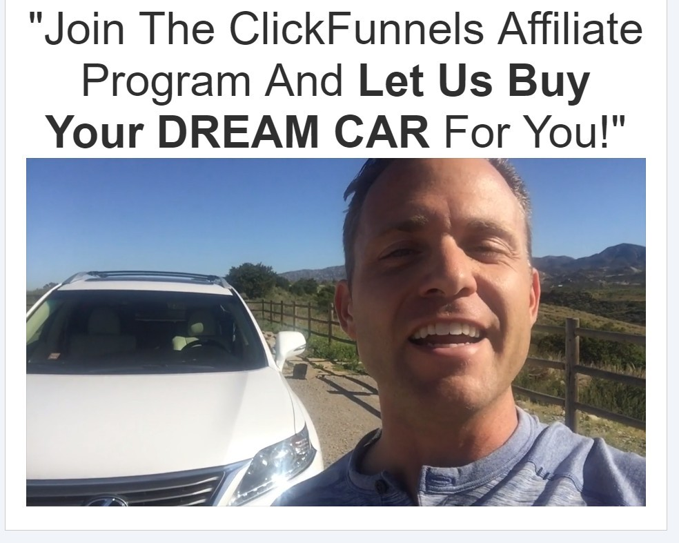 Brian delaney car winner at ClickFunnels