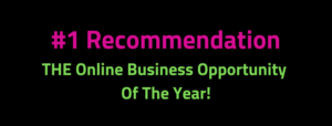 #1 Recommendation. The Online Business Opportunity Of The Year!