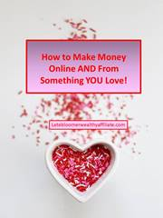 How To Make Money Online AND From Something YOU Love!