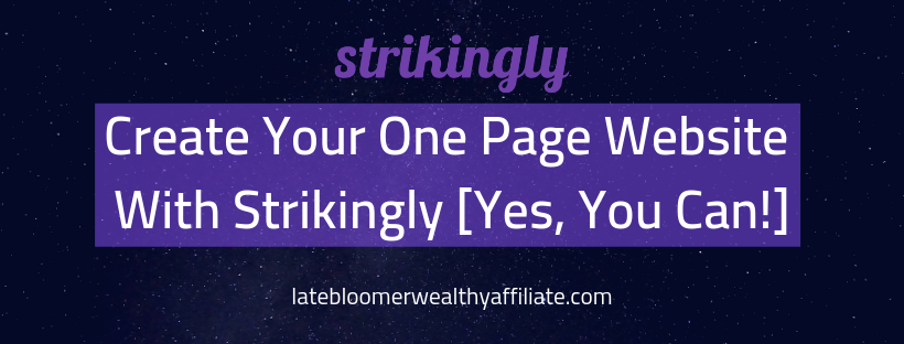 Create Your One Page Website With Strikingly