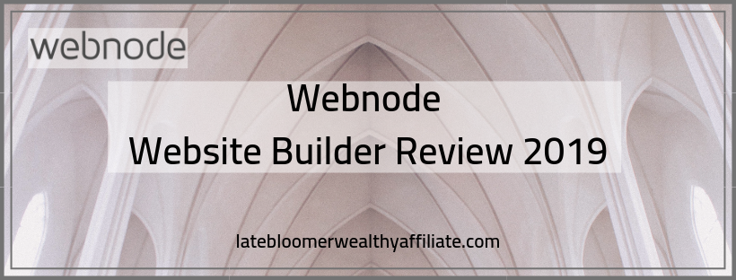 Webnode Website Builder Review 2019