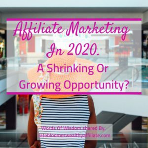 Affiliate Marketing in 2020. A Shrinking Or Growing Opportunity?