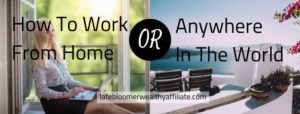How To Work From Home Or Anywhere In The World