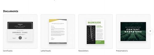 Canva Design Types - Documents