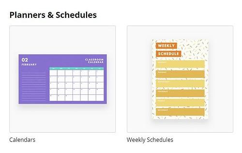 Design Types - Planners & Schedules