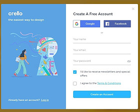 Create An Account With Crello