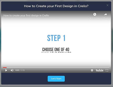 How To Create Your first Design In Crello