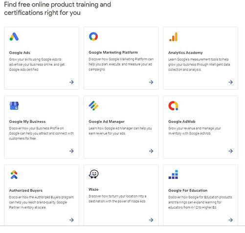 Google Skillshop Training