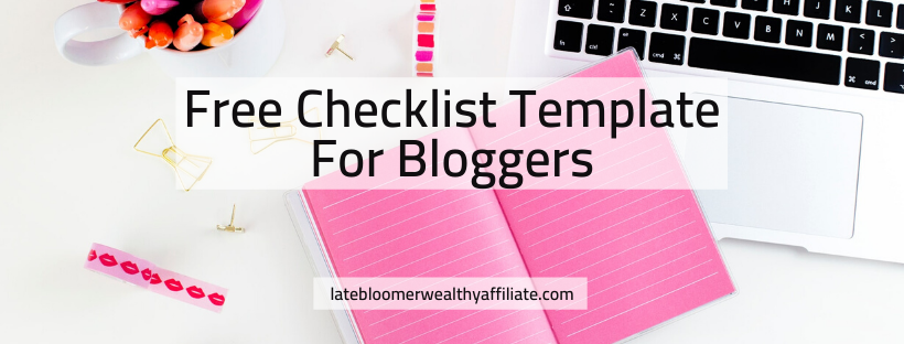 Free Checklist Template for Bloggers