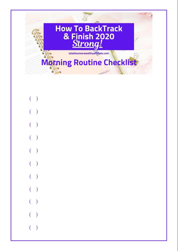 Daily Morning Routine Checklist