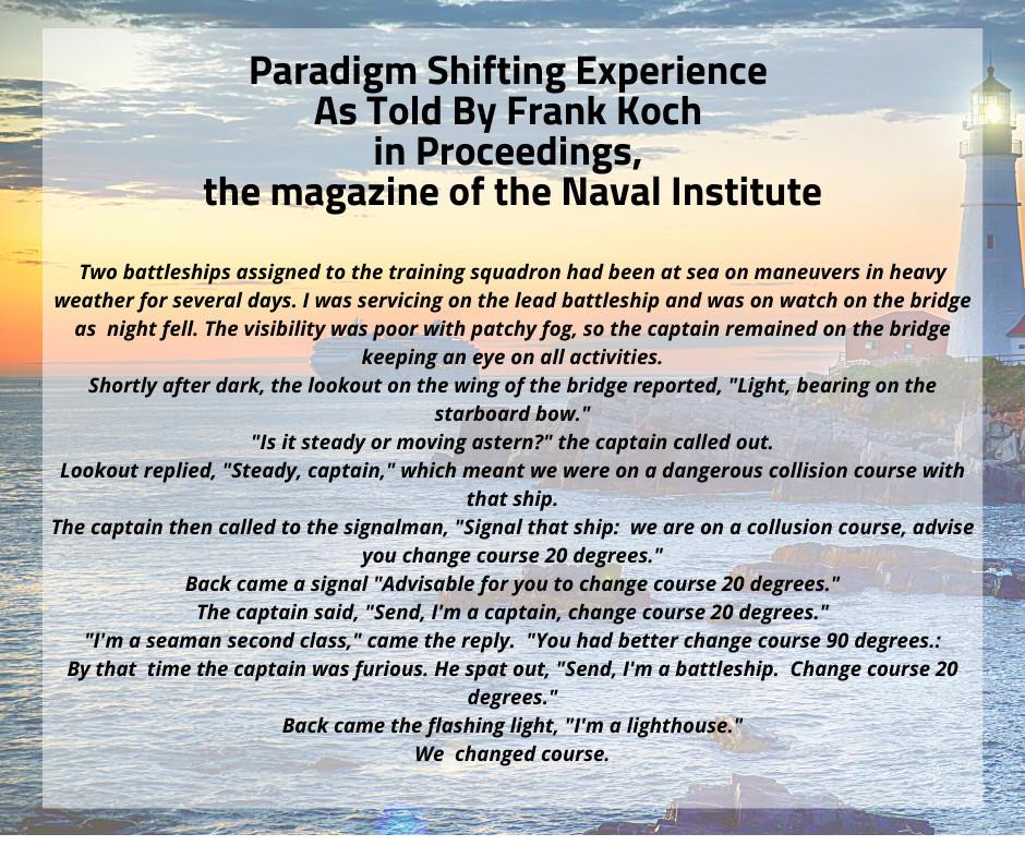 Paradigm Shifting Experience
