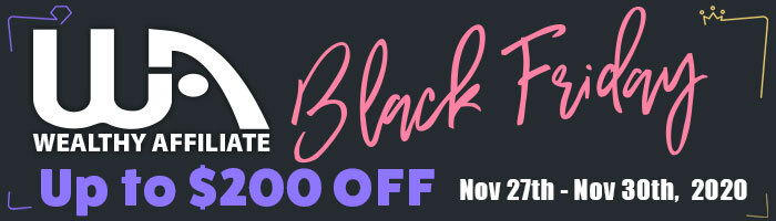 Wealthy Affiliate Black Friday 2020