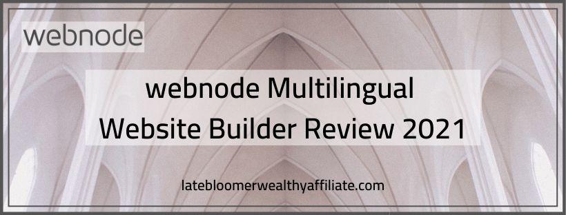 Webnode Review 2021